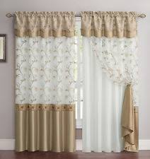 Gold And White Curtains by Victoria Classics Floral Modern Curtains Drapes U0026 Valances Ebay