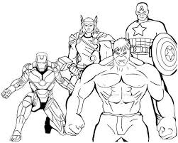 Superheroes Printable Coloring Pages 14 Iron Man Marvel Free For Adult