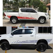 Free Shipping Hilux Racing Side Stripe Graphic Vinyl Sticker For ...