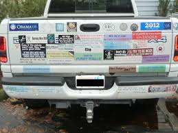 A Car With Over 10 Bumper Stickers Is A.. - D2jsp Topic Diesel Truck Bumper Stickers And Van Filepickup Truck With Ron Paul Bumper Sticker 22685319jpg Vehicle 26 Of The Funniest Ever Robert Samuelson Nation Orange County Register Usa Flag Thin Blue Line Car Sticker Decal Vinyl Police Hotmeini Maine Me Personalized Lettering Art For How To Remove A From Or Smartguy Yeti Punisher Skull Laptop Comic Butterfly Decals Jdm Auto Window Heart Obama Look Fat Buy Soul Eater Anime In Cheap