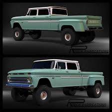 Chevy 64-65-66 Crew Cab Dually Dubbed The Ponderosa. | Chevy/ GMC ...