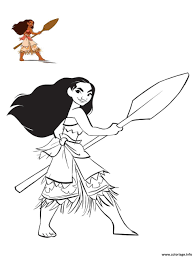 Disney Coloriage Vaiana à Imprimer Disney Design