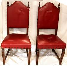 Antique Red Leather & Brass High Back Tiger Oak Chairs, Set Of Two ... High Back Antique Oak Morris Recling Chair Claw Feet Oak Framed Throne Chair Danish Homestore Wheat Ding Chairs Star Wars Bean Bag Costway With Cross Set Of 2 Solid Wooden Frame Style Side For Kitchen Rooms Rattan Seat A Pair 19th Century Hall In The Jacobean Charles Ii Single C1680 B3771 La41504 Vintage Rocker Press Cane Baby Empoto Childs Rush Coaching Settle Carved Renaissance Throne Victorian And