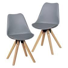 finebuy esszimmerstuhl suva5056 1 design esszimmerstühle 2er set skandinavische stühle mit holzbeinen retro stuhlset kunststoff küchenstühle mit