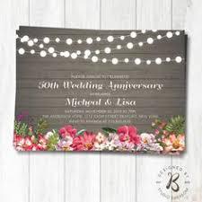Rustic Wedding Anniversary Invitation 25th Invite 40th 50th