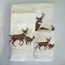 Embroidered Deer Towel Set
