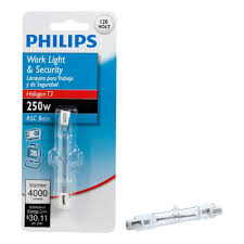 Philips Pre Lit Christmas Tree Replacement Bulbs by Philips 250 Watt 120 Volt T3 Halogen Clear Light Bulb 415620 The