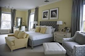 Soft Grey Beds In Traditional Bedroom