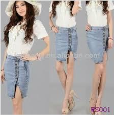 Fashion Ladies Tops Latest Design Tight Slim Skinny Jean Skirts Girls Dresses