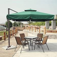 mega direct uk large garden deluxe cantilever hanging parasol
