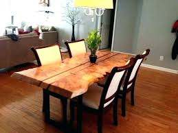 Dining Room Table Diy Live Edge Improbable Wood