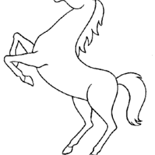 Horse Coloring Page AZ Pages