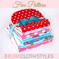 Burp Cloth Pattern Free Printable Pattern For 3 Styles Sewing