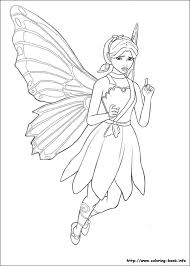 Barbie Mariposa Coloring Picture