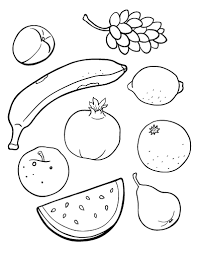 Printable Fruit Coloring Page Free PDF Download At Coloringcafe