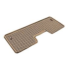 Rugged Ridge Floor Liners by Rugged Ridge Floor Liner Rear 1 Piece Tan 2009 2013 Ford F150 Crew