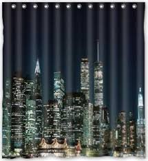 BravoVision Custom the Night View of New York Shower Curtain 60
