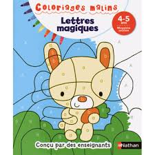 Nathan Coloriage Malin Lettres Magiques Moyenne Section Hourafr