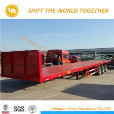 100 40 Foot Containers For Sale Hot Item Hot Carrier 3 Axles FT Extendable Flatbed Semi Trailer