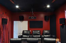 Klipsch Angled Ceiling Speakers by Possible To Mount Surround Speakers Rs62 To The Backwall In This