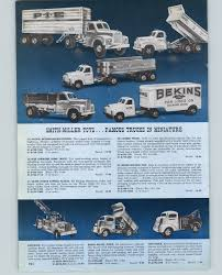 1956 PAPER AD Smith Miller Toy Trucks PIE Tractor Trailer Tow Remco ...