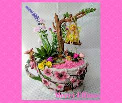 Fairy Garden And Swing Teacup