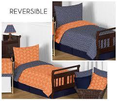 Arrow Orange & Navy Toddler Bedding Set By Sweet Jojo Designs