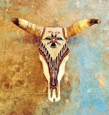 Decorated Cow Skulls Pinterest by Yarn Painted Skull Evoke The Spirit Sayulita Mexico Home