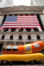 Oscar Meyer Weiner-Mobile Parked Outside The NYSE Façade On July 18 ...