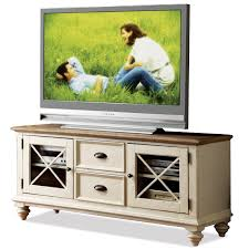 Riverside Furniture Coventry Two Tone 2 Drawer TV Console with 2