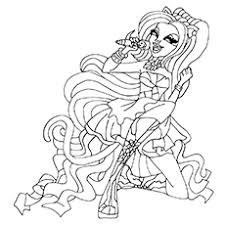 Winsome Inspiration Monster High Coloring Pages All Characters Catty Noir Of Clawd Wolf