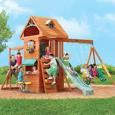 Big Backyard Ridgeview Clubhouse Deluxe Wood Swing Set - Toys