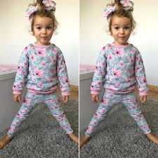 Baby Girl Sets Kids Clothing 2018 New Fall Winter Girls Clothes Sweatshirts Casual Pants