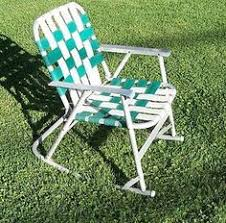 Slingback Patio Chairs That Rock by 1930s 40s Sling Back Deck Chair Lawn Chair Beach Chair By