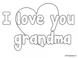 I Love You Grandma Coloring Pages