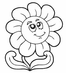 Coloring Page For Kids Free Printable Flower Pages Flowers Pictures
