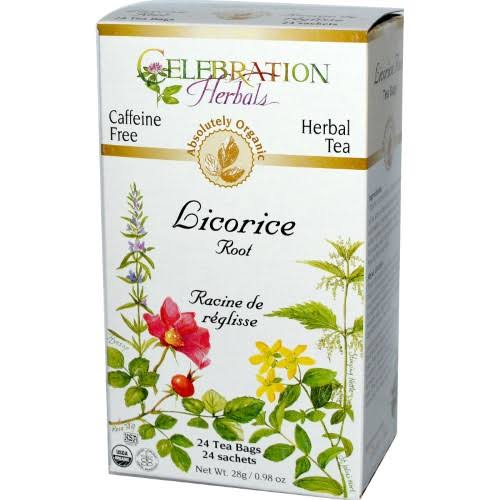 Celebration Herbals Caffeine Free Herbal Tea - Licorice Root, 24 Tea Bags