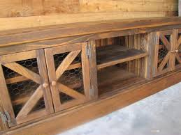 Elegant Console Cabinet With Doors Rustic Chicken Coop Tv Barn Style Fabulous