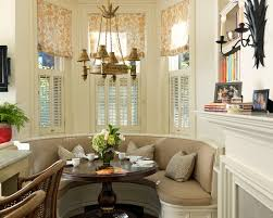 Attractive Shades For Bay Windows Used To Decorate Your Home Built In Banquette Wonderful