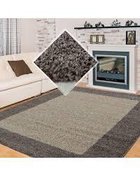 hochflor langflor wohnzimmer shaggy teppich 2 farbig florhöhe 3cm taupe mocca farbe taupe größe 60x110 cm