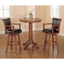 Hillsdale Furniture Park View Medium Brown Oak 42 Inch Bistro Table ...