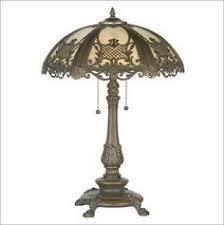 art nouveau bradley hubbard two tone slag glass table l shade