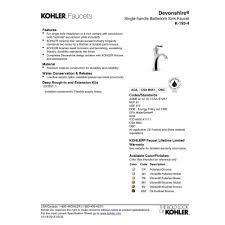 Polished Brass Bathroom Faucets Single Hole by Kohler K 193 4 Cp Devonshire Polished Chrome One Handle Bathroom