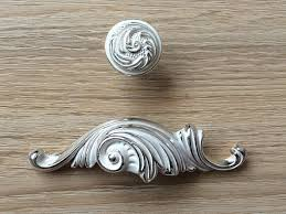 25 Bin Cup Dresser Pull Drawer Pulls Handles Rustic Silver White Shabby Chic Decorative Cabinet