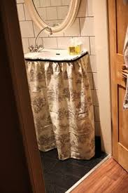 Burlap Utility Sink Skirt by Sink Skirt Custom W Box Pleats Choose Your Own Fabric And