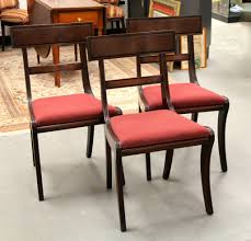 Empire Style Upholstered Dining Chairs SOLD