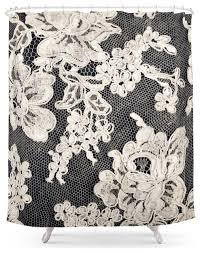 Black And White Flower Shower Curtain by Society6 Black And White Lace Photograph Of Vintage Lace Shower