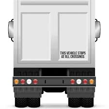 100 Semi Truck Decals This Vehicle Stops At All Crossings Decal