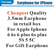 Hot Cheapest White Earphone With Remote & Mic For apple IPhone 6