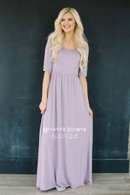 dusty lavender flowy modest maxi dress best and affordable